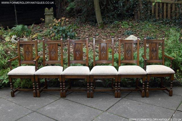 Image 20 of SIX OLD CHARM JAYCEE LIGHT OAK KITCHEN TABLE DINING CHAIRS