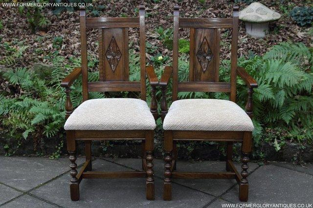 Image 22 of SIX OLD CHARM JAYCEE LIGHT OAK KITCHEN TABLE DINING CHAIRS