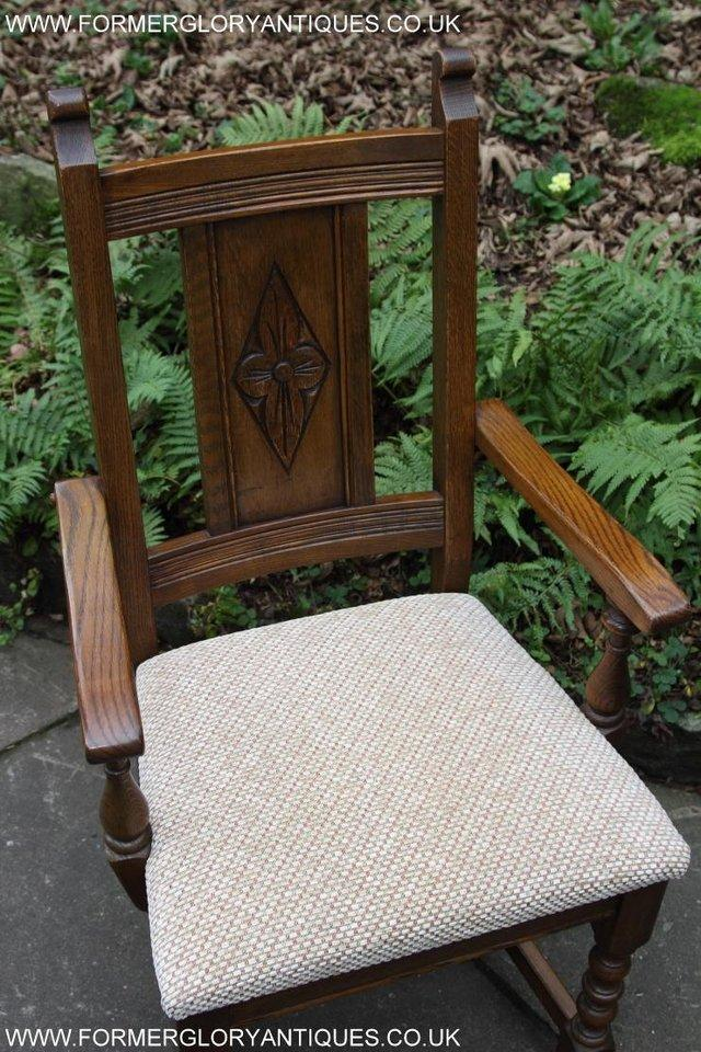 Image 23 of SIX OLD CHARM JAYCEE LIGHT OAK KITCHEN TABLE DINING CHAIRS