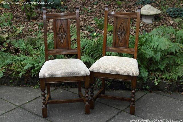 Image 24 of SIX OLD CHARM JAYCEE LIGHT OAK KITCHEN TABLE DINING CHAIRS