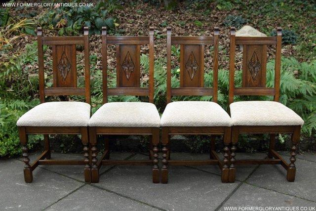 Image 27 of SIX OLD CHARM JAYCEE LIGHT OAK KITCHEN TABLE DINING CHAIRS