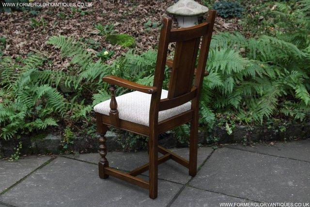 Image 29 of SIX OLD CHARM JAYCEE LIGHT OAK KITCHEN TABLE DINING CHAIRS