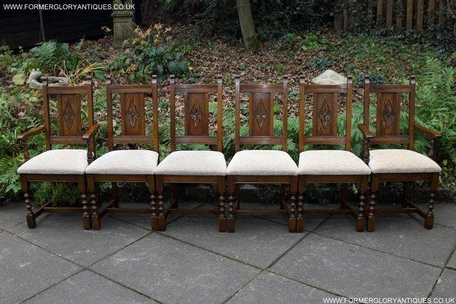 Image 32 of SIX OLD CHARM JAYCEE LIGHT OAK KITCHEN TABLE DINING CHAIRS