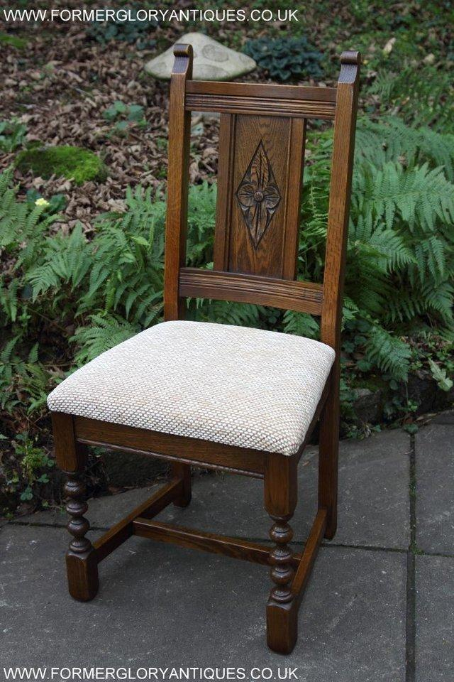 Image 34 of SIX OLD CHARM JAYCEE LIGHT OAK KITCHEN TABLE DINING CHAIRS