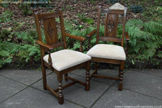 Image 36 of SIX OLD CHARM JAYCEE LIGHT OAK KITCHEN TABLE DINING CHAIRS