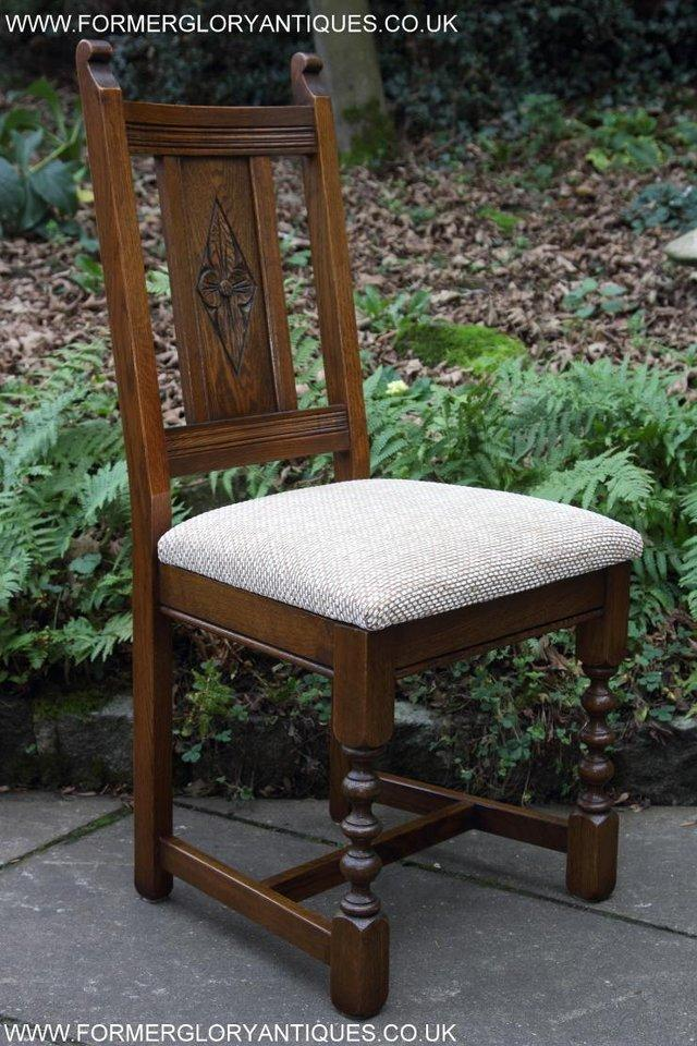 Image 37 of SIX OLD CHARM JAYCEE LIGHT OAK KITCHEN TABLE DINING CHAIRS