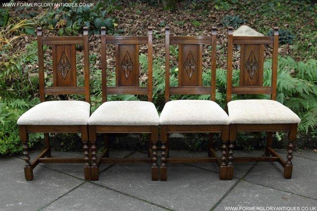Image 38 of SIX OLD CHARM JAYCEE LIGHT OAK KITCHEN TABLE DINING CHAIRS