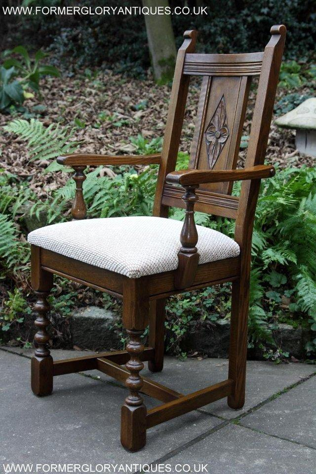 Image 39 of SIX OLD CHARM JAYCEE LIGHT OAK KITCHEN TABLE DINING CHAIRS