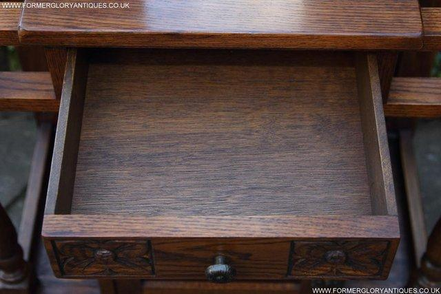 Image 10 of AN OLD CHARM JAYCEE LIGHT OAK HALL COAT STICK STAND CABINET