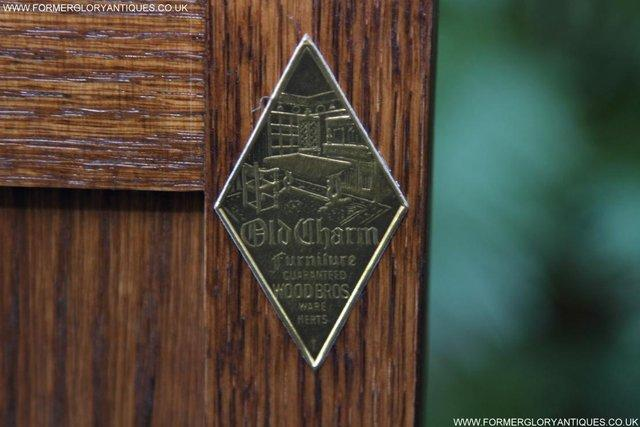 Image 12 of AN OLD CHARM JAYCEE LIGHT OAK HALL COAT STICK STAND CABINET