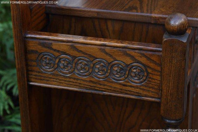 Image 13 of AN OLD CHARM JAYCEE LIGHT OAK HALL COAT STICK STAND CABINET