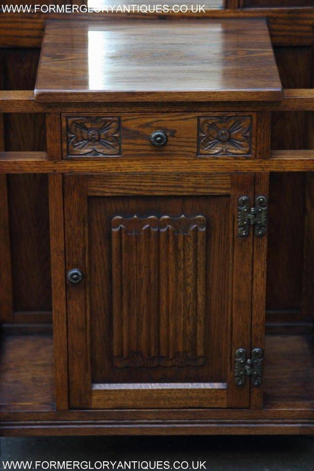 Image 23 of AN OLD CHARM JAYCEE LIGHT OAK HALL COAT STICK STAND CABINET