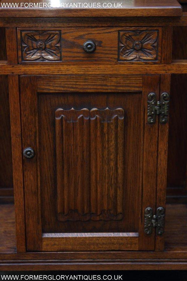 Image 26 of AN OLD CHARM JAYCEE LIGHT OAK HALL COAT STICK STAND CABINET
