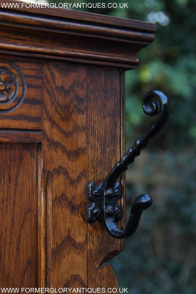 Image 28 of AN OLD CHARM JAYCEE LIGHT OAK HALL COAT STICK STAND CABINET