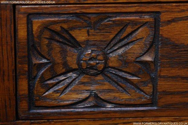 Image 30 of AN OLD CHARM JAYCEE LIGHT OAK HALL COAT STICK STAND CABINET