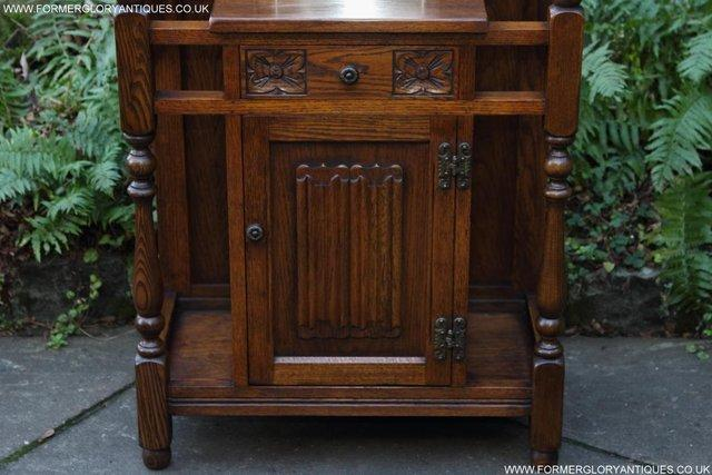 Image 40 of AN OLD CHARM JAYCEE LIGHT OAK HALL COAT STICK STAND CABINET