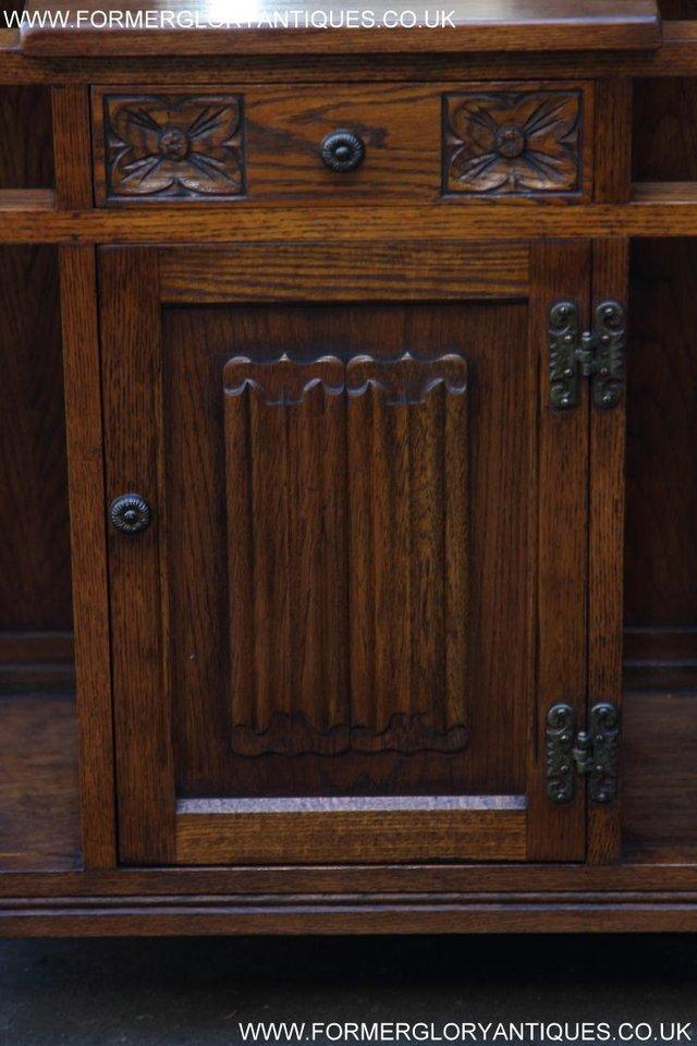 Image 44 of AN OLD CHARM JAYCEE LIGHT OAK HALL COAT STICK STAND CABINET