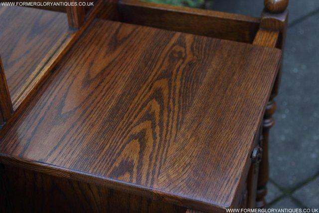 Image 48 of AN OLD CHARM JAYCEE LIGHT OAK HALL COAT STICK STAND CABINET
