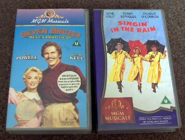 Preview of the first image of 2 MGM Musicals VHS videos.