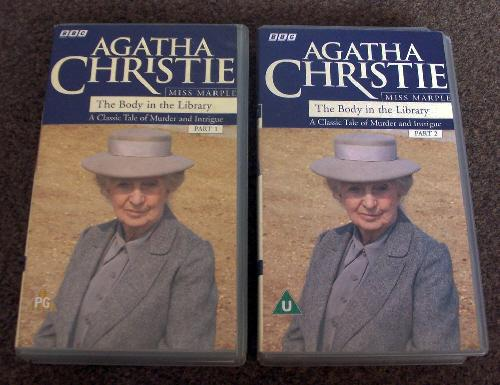 """Preview of the first image of Agatha Christie """"The Body In The Library"""" part 1 & 2."""