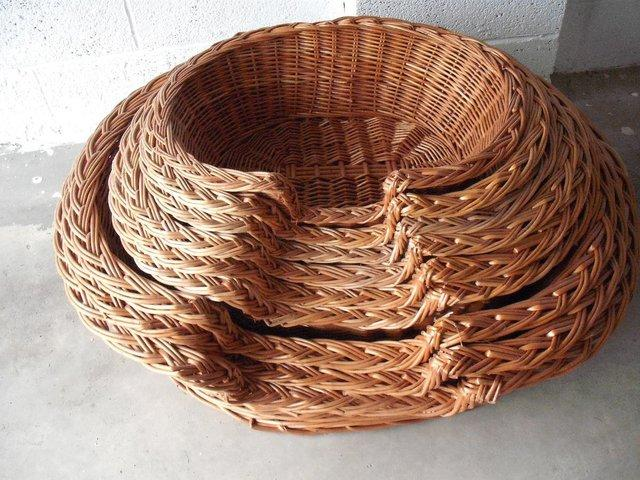 Preview of the first image of Traditional hand made Wicker baskets.