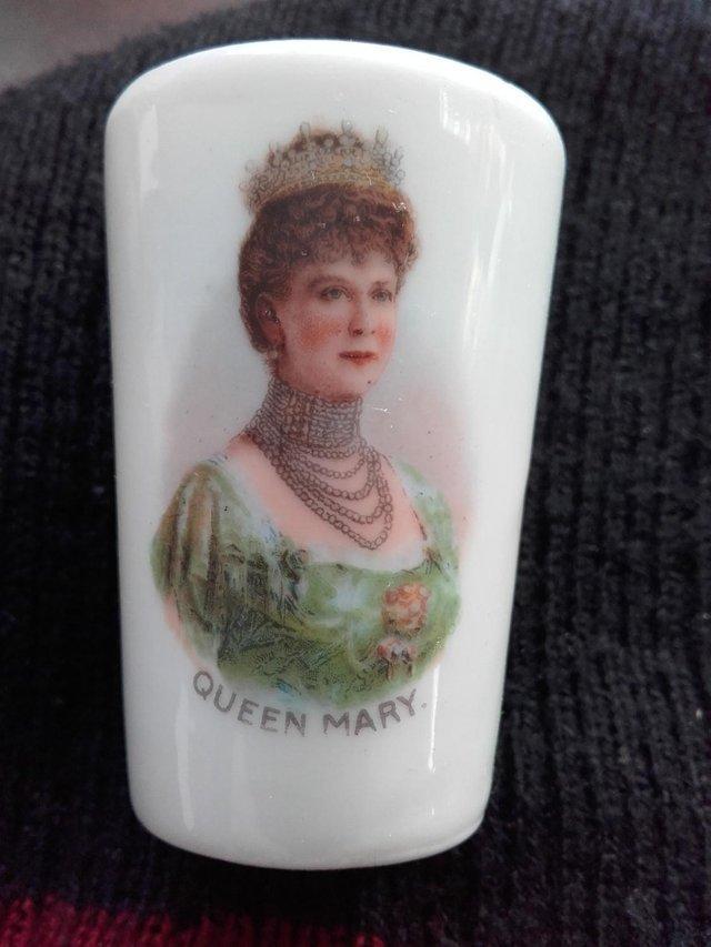 Image 2 of Antique Miniature Porcelain Queen Mary Beaker