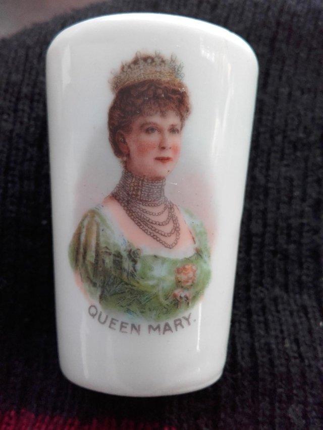 Image 3 of Antique Miniature Porcelain Queen Mary Beaker