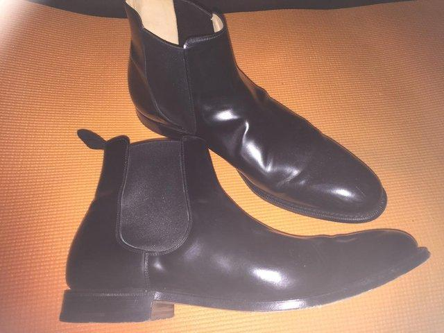 Preview of the first image of Church's Classic Black Beijing Chelsea Boots.