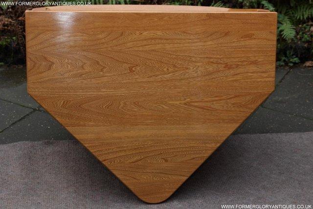 Image 21 of ERCOL WINDSOR LIGHT ELM CORNER TV CABINET STAND TABLE UNIT