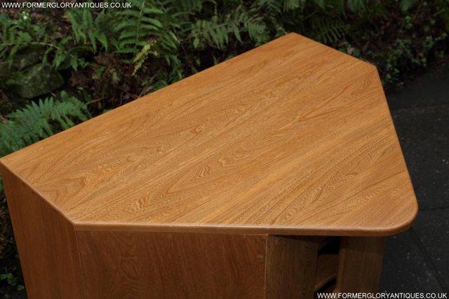 Image 23 of ERCOL WINDSOR LIGHT ELM CORNER TV CABINET STAND TABLE UNIT