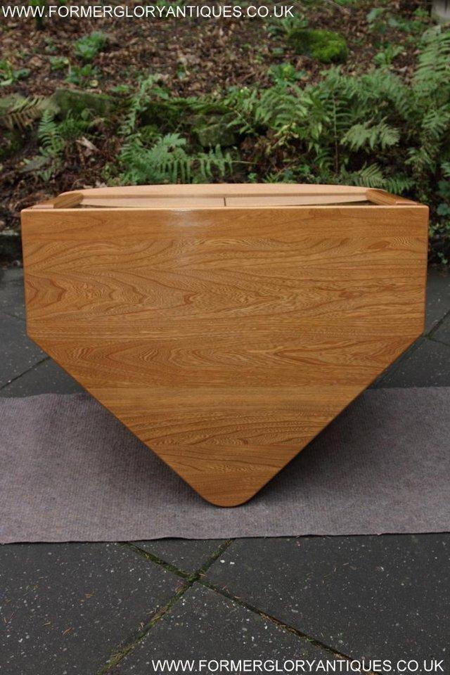 Image 26 of ERCOL WINDSOR LIGHT ELM CORNER TV CABINET STAND TABLE UNIT