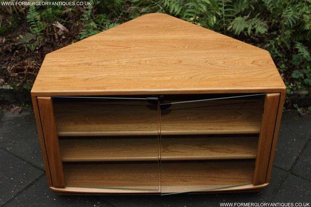Image 41 of ERCOL WINDSOR LIGHT ELM CORNER TV CABINET STAND TABLE UNIT