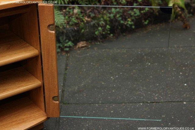 Image 45 of ERCOL WINDSOR LIGHT ELM CORNER TV CABINET STAND TABLE UNIT
