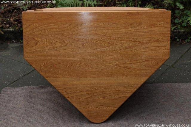 Image 50 of ERCOL WINDSOR LIGHT ELM CORNER TV CABINET STAND TABLE UNIT