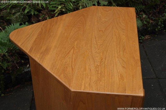 Image 53 of ERCOL WINDSOR LIGHT ELM CORNER TV CABINET STAND TABLE UNIT