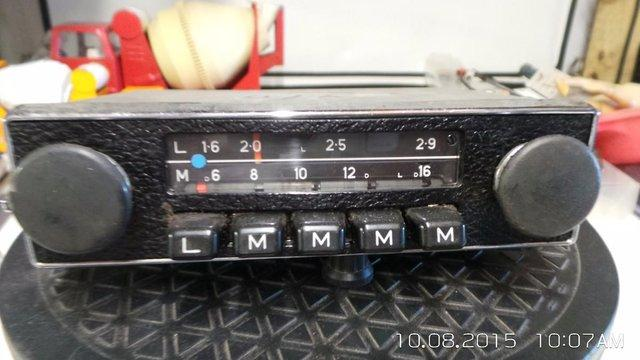 Preview of the first image of classic car Blaupunkt old 1970s/80s push button radio.