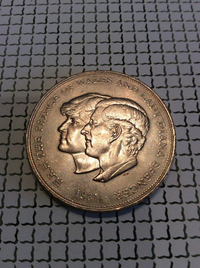 Preview of the first image of 1981 Prince of Wales and Lady Diana Spencer commemorative cr.
