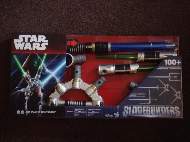 Preview of the first image of Star Wars Bladebuilders Jedi Master Electronic Lightsaber.
