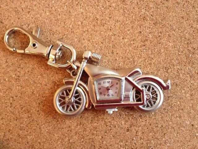 Image 4 of 4 x Motorbike Keyring with Quartz clocks brand new
