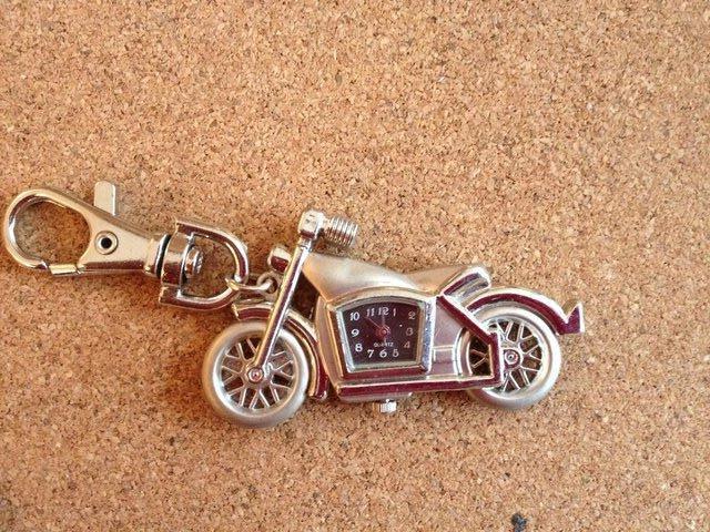 Image 5 of 4 x Motorbike Keyring with Quartz clocks brand new