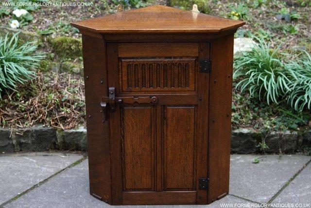 Preview of the first image of NIGEL RUPERT GRIFFITHS OAK CORNER CABINET CUPBOARD SHELVES.