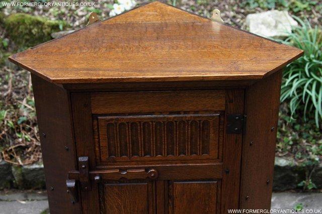 Image 21 of NIGEL RUPERT GRIFFITHS OAK CORNER CABINET CUPBOARD SHELVES
