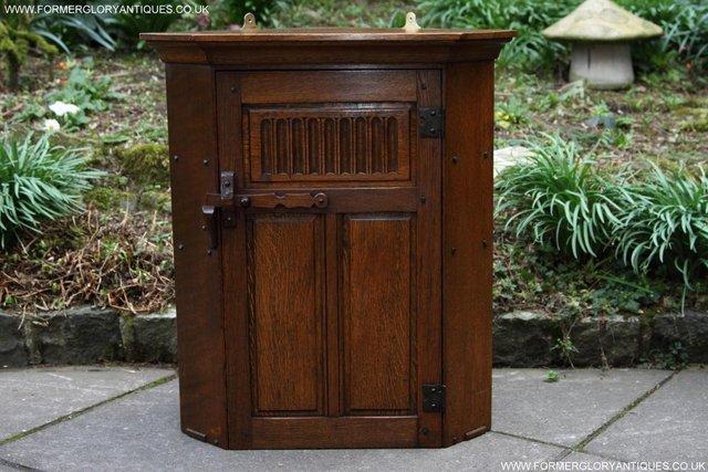 Image 23 of NIGEL RUPERT GRIFFITHS OAK CORNER CABINET CUPBOARD SHELVES