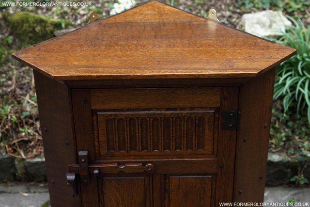 Image 24 of NIGEL RUPERT GRIFFITHS OAK CORNER CABINET CUPBOARD SHELVES