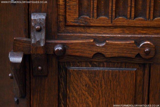 Image 25 of NIGEL RUPERT GRIFFITHS OAK CORNER CABINET CUPBOARD SHELVES