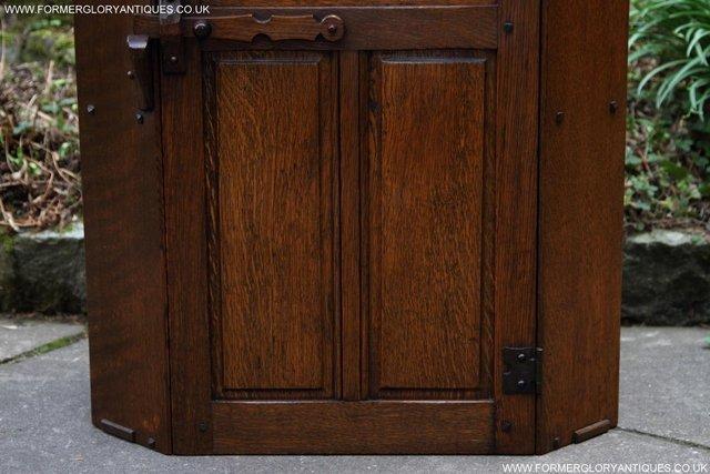 Image 33 of NIGEL RUPERT GRIFFITHS OAK CORNER CABINET CUPBOARD SHELVES