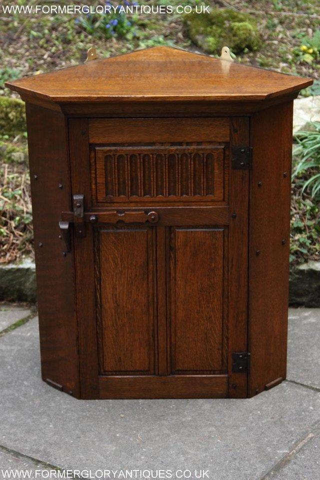 Image 43 of NIGEL RUPERT GRIFFITHS OAK CORNER CABINET CUPBOARD SHELVES