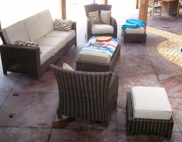 Garden/Conservatory rattan style furniture Price reduced.