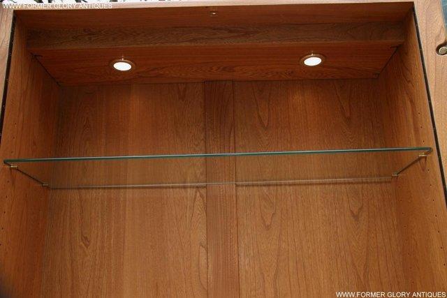 Image 17 of ERCOL LIGHT ELM DISPLAY CABINET CUPBOARD SIDEBOARD DRESSER
