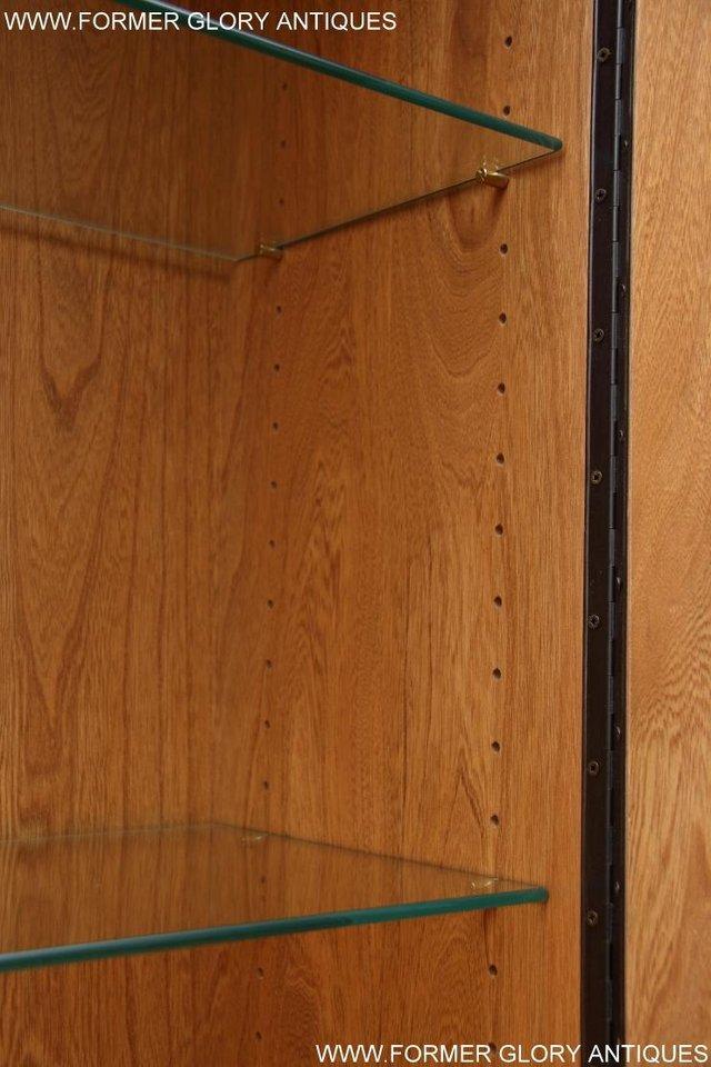 Image 30 of ERCOL LIGHT ELM DISPLAY CABINET CUPBOARD SIDEBOARD DRESSER